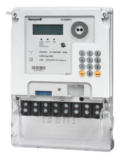 Honeywell 3 Phase Prepaid Electricity Meter With Integrated Keypad