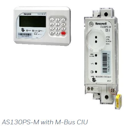 Honeywell Single Phase Split Type Prepaid Electricity Meter With Wired M-Bus Keypad