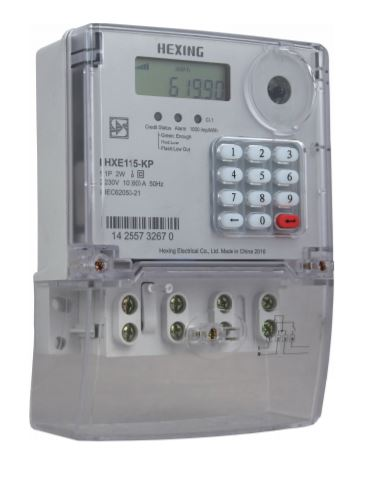 Hexing Single Phase Prepaid Electricity Meter With Integrated Keypad
